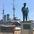 今日は「日本海海戦」の日三笠公園の記念艦「三笠」を空撮