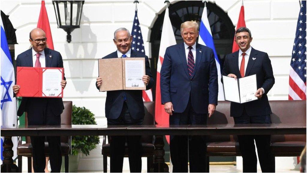 イスラエル、UAE・バーレーンと国交正常化に署名 トランプ氏が称賛
